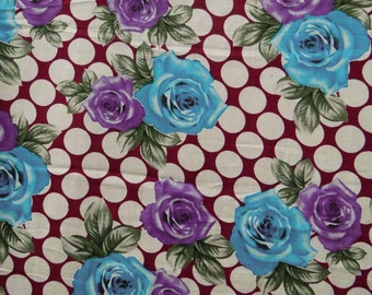 Indian Cotton Voile Floral Printed Fabric For Sewing Craft Supplies Decorative Dress Making Apparel Material Sewing Fabric By 1 Yard ZBC1978
