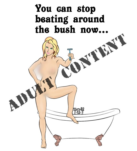 beating around the bush greeting card