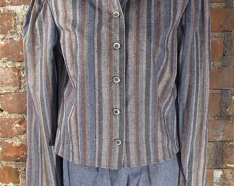 Deadstock H Bar C Wool/Cotton Blend 2 Piece Suit