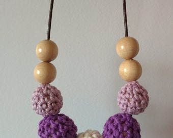 Nursing necklace - Lavanda
