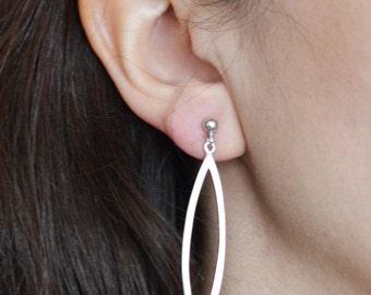 Sterling Silver Statement Earring / Sterling Silver Boho Jewelry / Bohemian Earring / Geometric Earring / Dangle Earring