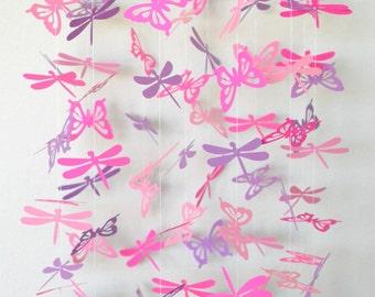 Baby Girl Nursery Ideas - Dragonfly Nursery - Butterfly Mobile - Baby Mobile - Baby Girl Room Ideas - Butterfly Nursery Decor