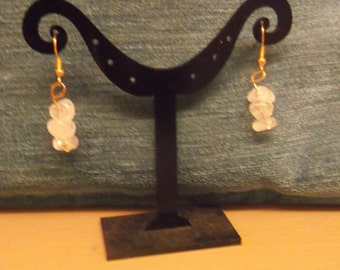 Frosted  Nugget Earrings