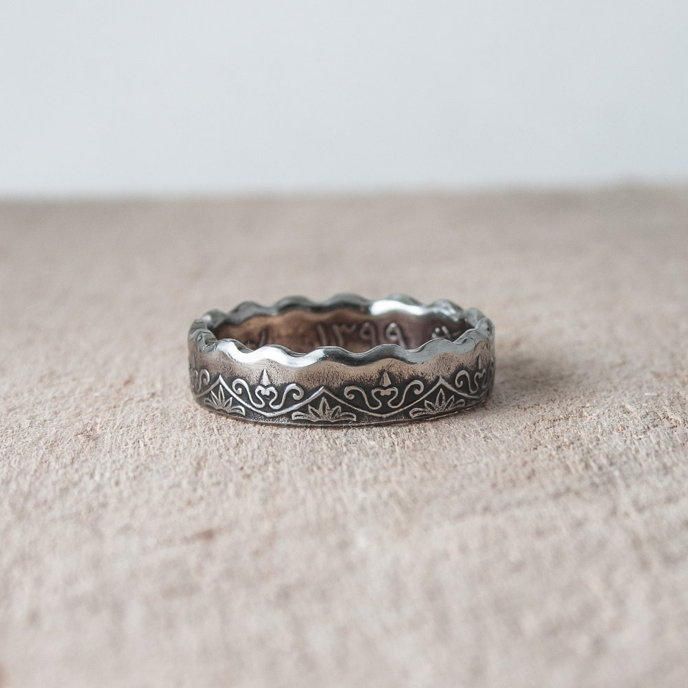 coin ring coin jewelry libya 50 dirhams 1979 statement