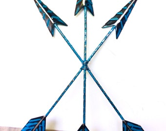 Teal Blue Wall Arrow Decor - Bohemian Home Decor - Arrow Wall Art - Tribal Arrows - Teal Blue Wall Decor - Arrow Wall Hanging - Tribal Decor