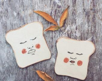 Toast ceramic plates