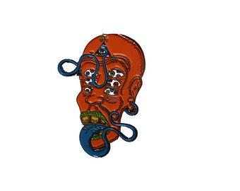 Smile Emoticon LSD Pin