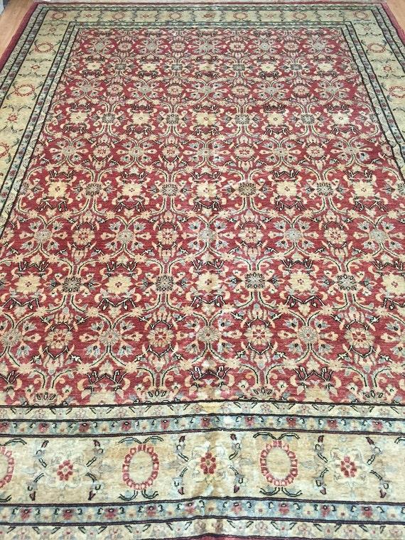 "8'10"" x 11'9"" Pakistani Peshawar Oriental Rug - Hand Made - Vegetable Dye - 100% Wool"