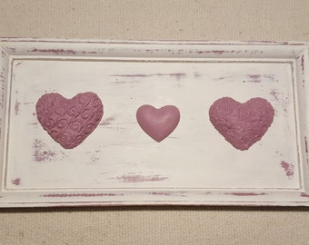 Shabby Chic decorative image with heart in pink