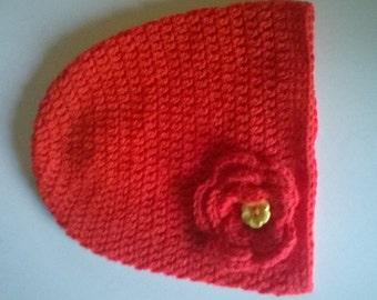 Vibrant Red Beanie Hat