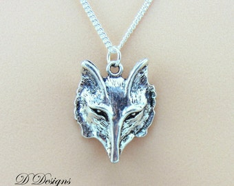 Wolf Necklace, Silver Pagan Pendant,Large Wolf Pendant, Silver Charm Necklace, Silver Necklace, Trendy Necklace