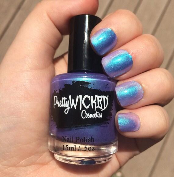 Pink And Blue Nail Polish: Blue/Purple Thermal Nail Polish, Daphne Polish, Color