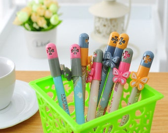 Cute Butterfly Pens / Cute Pens / Kawaii Pens / Cute Gel Pens / Kawaii Gel Pens / Cute Planner Pens / Elegant Flower Pens / Cute Stationery