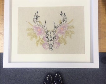 Stag Skull Embroidery