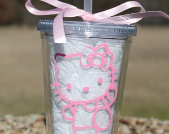 Hello Kitty personalized tumbler/ Choose vinyl colors