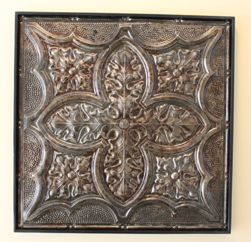 antique tin ceiling tile authentic vintage tin ceiling tile. Black Bedroom Furniture Sets. Home Design Ideas