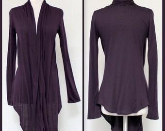 New Designer Asymmetric Hem Long Sleeve Shrug /Cover-Up Drape.