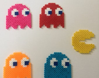 Perler Bead Pacman and Ghosts