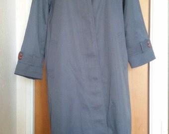 English Womens dark Grey Long Trench Coat removable lining Raincoat trenchcoat, Overcoat, pristine