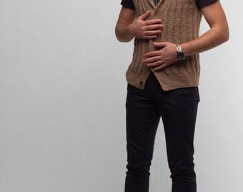 Sweater Vest. Knit Vest, knit sweater vest, Men's vest