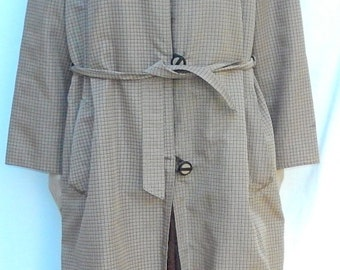 fur-lined coat with mink lining
