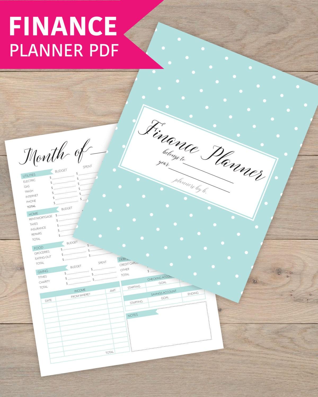 Finance: Finance Planner Finance Binder Budget Binder Budget Planner