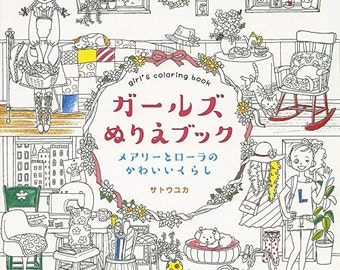 Girls Colouring Book By Yuka Sato