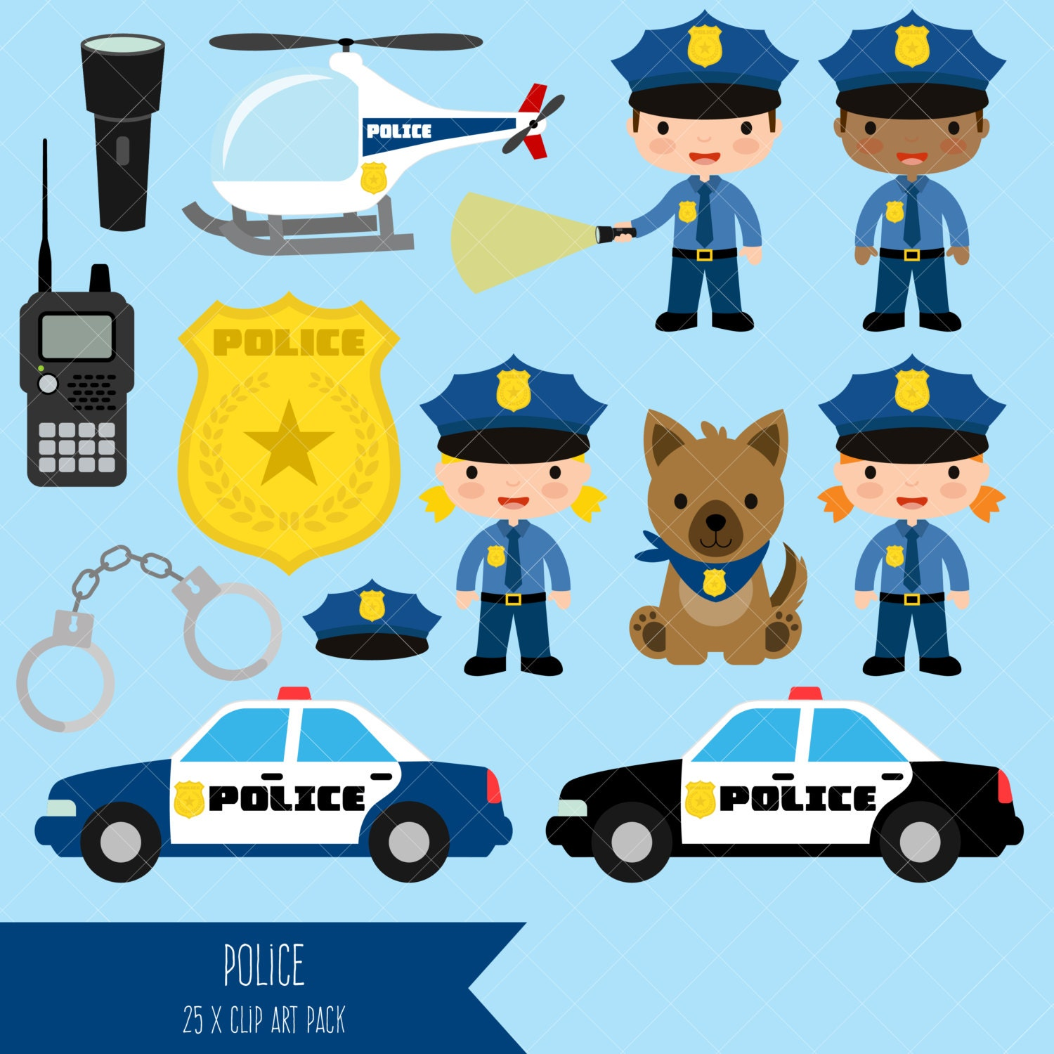 Police Clipart from ClipArtisan on Etsy Studio