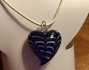 Glass Heart Pendant!!!!!