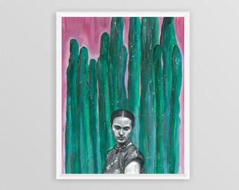Frida Kahlo No. 2, 11x14 Print, Mixed Media, Painting