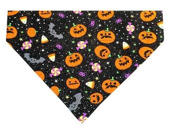 Halloween Dog Bandana Scarf - Size Medium - Trick or Treat Sparkle