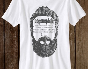 Funny Beard Shirt For Her Pogonophile T-Shirt Love Beards Tee
