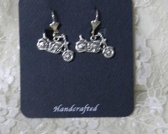 Wedding Reception Ceremony Party Motorcycle Biker Chick Poker Run Pierced Earrings