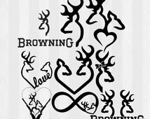 Deer Silhouette page 3 together with Car Decals as well Browning Symbol Heart Coloring Pages Sketch Templates moreover 914862403363076 additionally Browning. on browning deer head clip art