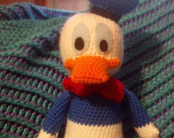 Crochet Donald Duck 12 inch Stuffed Doll