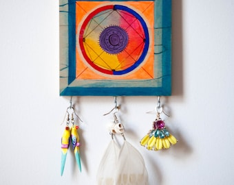 Blue is the Fairest of them All Wall Art Jewelry Display
