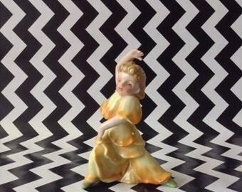 c.1950's~Dancing Flower Girl~Yellow Flower~Figurine