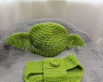 SALE! Newborn Baby Yoda StarWars Set photo prop