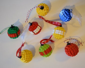 Build Your Own LEGO Bauble - Christmas Tree bauble Handmaded with LEGO Bricks
