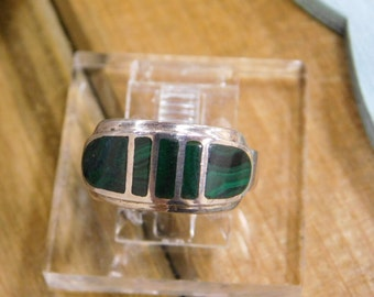 Charming Malachite Sterling Silver Ring