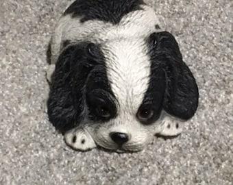 Vintage Musical Puppy Global Art Harvey Knox Kingdom Dog Figurine