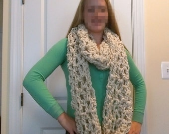 Chunky Infinity Scarf - Cream -FREE SHIPPING