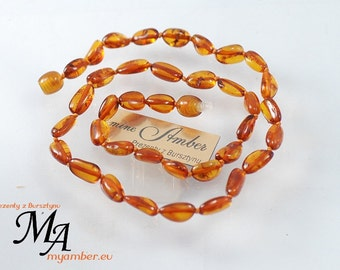 Baltic Amber Necklace + Certificate * 11331