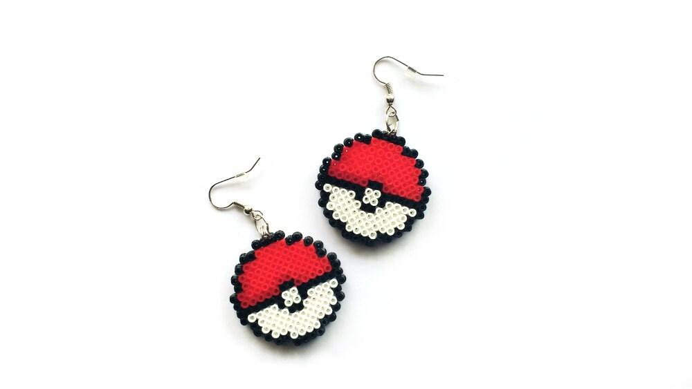 geeky earrings mini perler mini hama