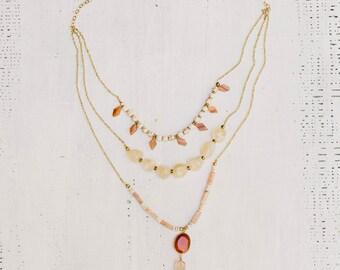 Carnelian Layered Necklace