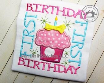 1st Birthday Shirt/ Birthday Cupcake Shirt/ Cupcake Birthday Shirt/ First Birthday Shirt