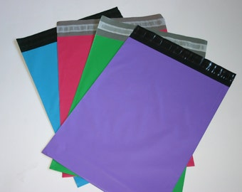200 10x13 Poly Mailers 50 Each Purple Raspberry Neon Blue Green Colored Self Sealing Envelopes Easter Spring