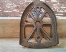 Sad iron trivet antique, cast iron trivet, iron holder vintage