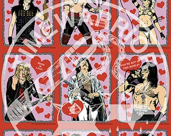 Heavy Metal Heroes Valentine's Day Cards Vol. 2