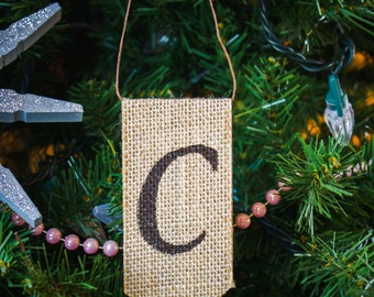 Custom Burlap Ornaments